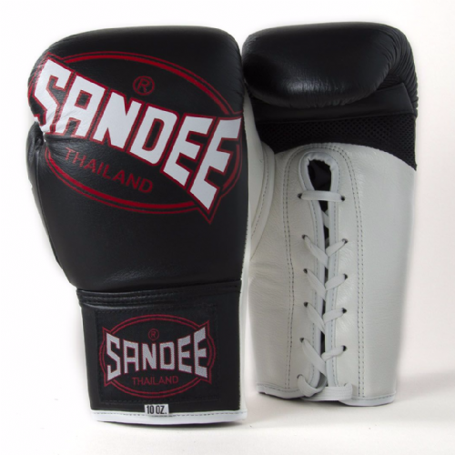 Sandee Cool-tech Lace Up Fight Gloves - Black